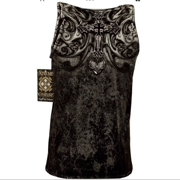 XTREME COUTURE by AFFLICTION Men T-Shirt HADES TANK Wing Biker MMA GYM S-3XL $33